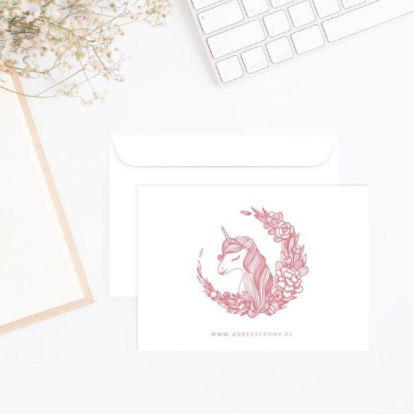 koperta z jednorożcem unicorn c6 pink
