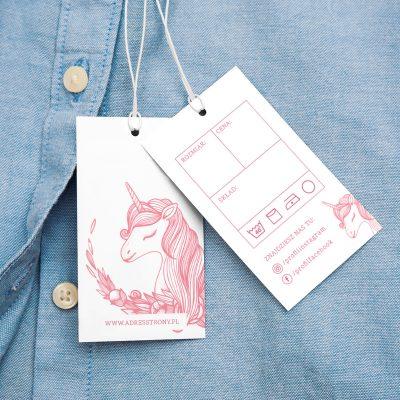 metka odzieżowa unicorn