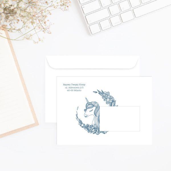 koperty z adresem firmowym jednorożec
