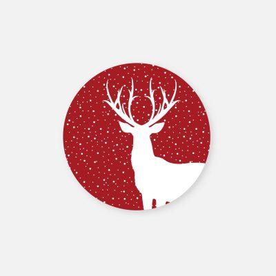 naklejki boże narodzenie wesołych świąt jelonek deer