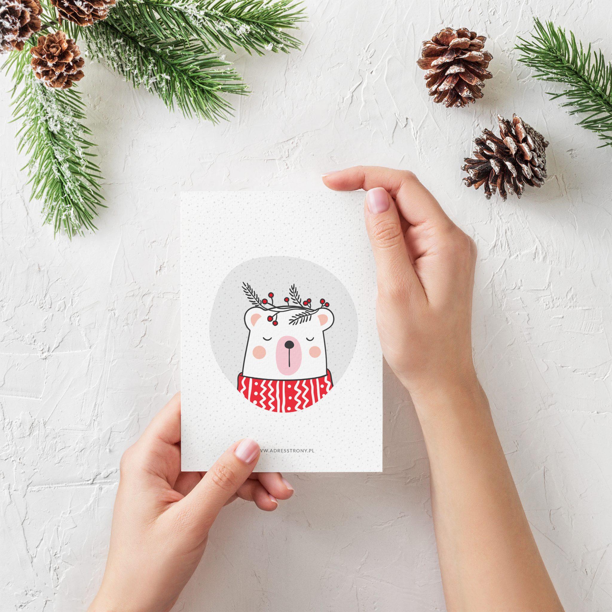 Podziękowanie-kartka-świąteczna-merry-trees-ms-bear-1-