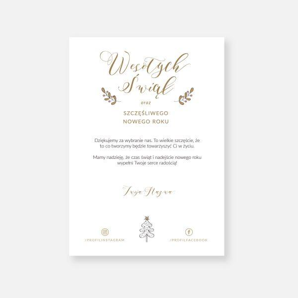 karta z życzeniami boże narodzenie nowy rok hohoho