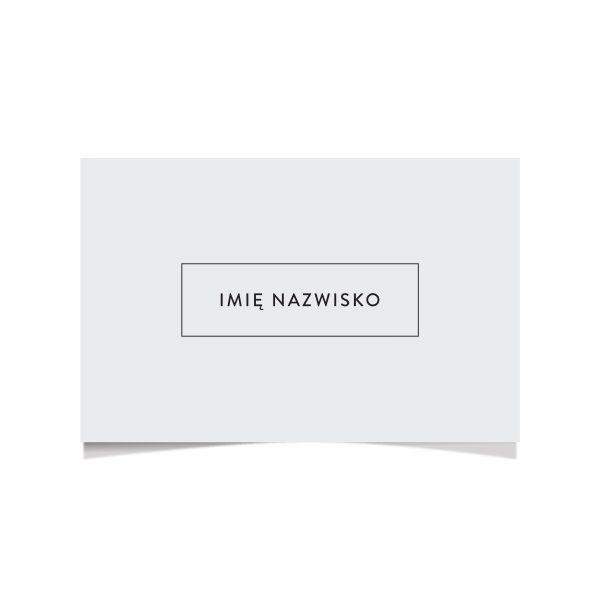 Minimalistyczna wizytówka