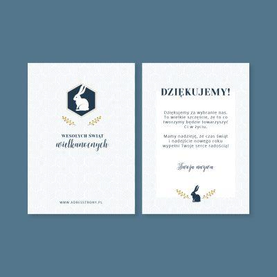 firmowa kartka wielkanocna z logo