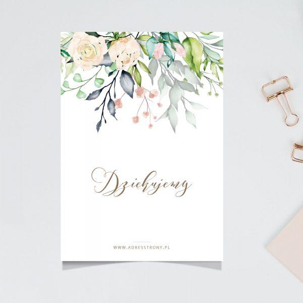 Bouquet podziękowanie za zakupy projekt druk