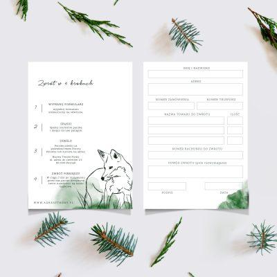 formularz zwrotu towaru wzór gotowy druk