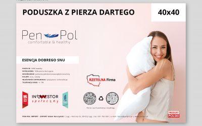 Projekt indywidualny etykiet dla producenta kołder i poduszek